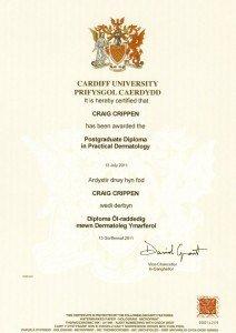 cardiff university diploma in dermatology