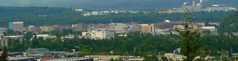 Prince George among the trees. Photo by Iranianson of Wikipedia